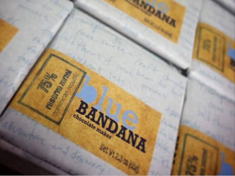 Chocolate Blue Bandana